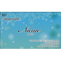 022 名刺 かわいい系 ブルー系(1箱100枚入)