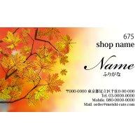 675 名刺 和風 イエロー・オレンジ系  (1箱100枚入)