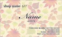 677 名刺 和風 イエロー・オレンジ系  (1箱100枚入)