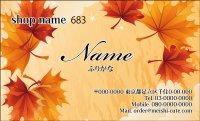 683 名刺 和風 イエロー・オレンジ系  (1箱100枚入)