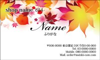 684 名刺 和風 イエロー・オレンジ系  (1箱100枚入)