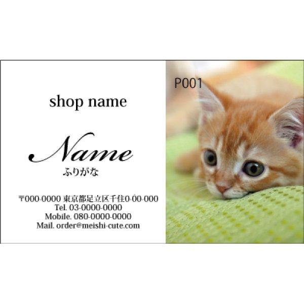 画像1: 写真名刺P01(写真の配置のイメージです、1箱100枚入)