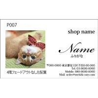 写真名刺P07(写真の配置のイメージです、1箱100枚入)
