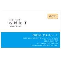 ビジネス カラー名刺 横C012 (1箱100枚入)