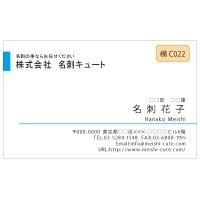 ビジネス カラー名刺 横C022 (1箱100枚入)
